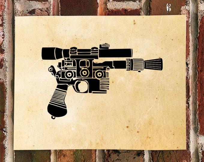 KillerBeeMoto: Limited Print of Vintage Style Ray Gun