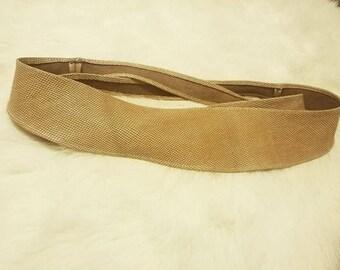 Tortilla color leather OBI  belt