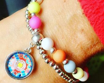 Free Shipping within NL Braceletset of 2 bracelets bangle colors