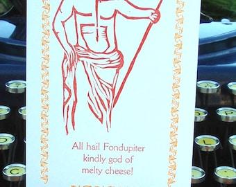 Fondupiter: God of Melty Cheese Card