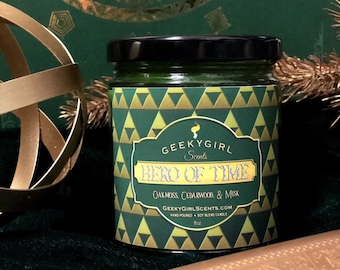 Hero of Time   Video Game Inspired Candle   Oakmoss, Cedarwood, & Musk