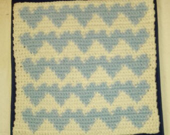 "Crochet Heart Waves Pet Cat Sm Dog Blanket Mat Bed Rug 18"" Free Shipping"