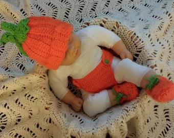 Halloween baby pumpkin outfit
