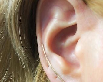 Ear climber- hammered ear climber- silver ear climber- gold ear climber- rose gold ear climber- minimalist ear climber- ear crawlers