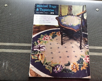 Stitched Rugs & Tapestries Magazine by Stitchcraft, designs for rugs, cushions, screens, chair seats, pictures, stools, complete charts