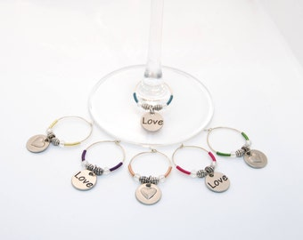 Set of 6 Wine Charms