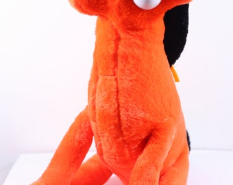 Vintage 1980s Gumby Character Plush POKEY the ORANGE Horse Stuffed, Pokey Gumby's House, Poseable Pokey, Gumby Pokey, Pokey the Horse, 80s