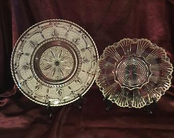 2  vintage serving platters or trays