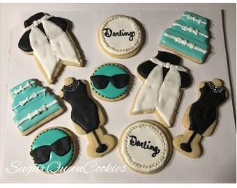 Tiffany inspired sugar cookies (breakfast at tiffanys)