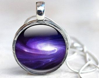 Milkyway Necklace - Milky Way Jewelry - Glass Photo Milky Way Necklace