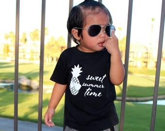 Pineapple shirt, summer shirt, sunglasses shirt, baby pineapple, baby shirt, sweet summer time, summer time shirt, pineapple birthday, sun