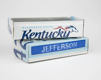 Kentucky license plate box - father's day gift - gift for mom's dad's and grad's - teacher gift - graduation gift - graduation gift box