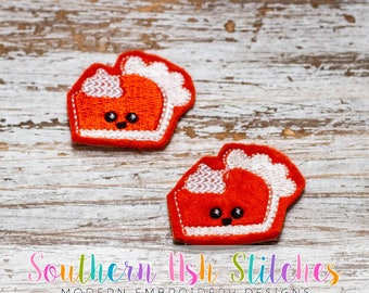 Pumpkin Pie Feltie Embroidery Digital Download