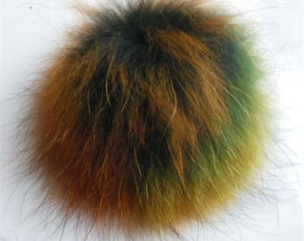 15cm Real Raccoon Fur Colorful Pom Pom Balls Knit Hat Pompoms Removable