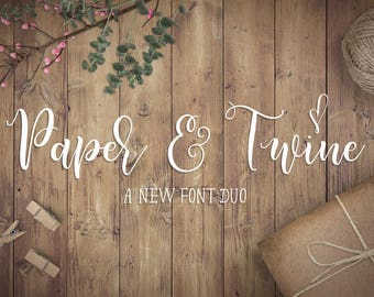 Paper & Twine Font Duo