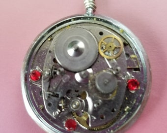 OOAK Steampunk Recycled Watch Parts Necklace