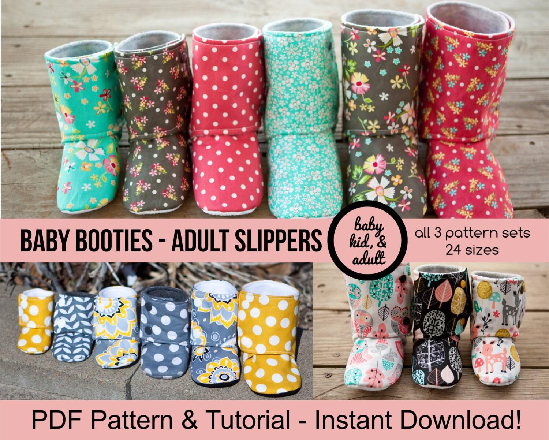 Bootie Pattern Bundle Baby Kids Tween/Adult and Doll