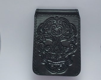 Hand-Tooled Money Clip Wallet