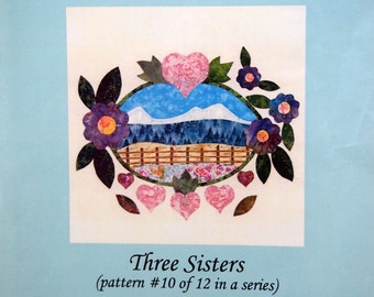 Three Sisters Oregon Album Patterns By Joyce Taylor Wood And Meadowlark Designs Uncut Quilting Pattern Packet 2002