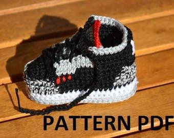 CROCHET PATTERN -Nike Air Jordan 3 Crochet Baby Booties pattern