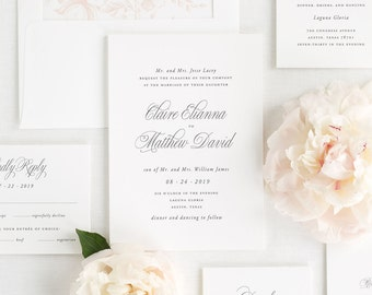 Garden Elegance Wedding Invitations - Sample