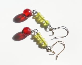 Caterpillar color earrings