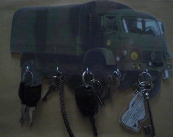 key wall TRM 4000 army truck, key hook wall vintage personalized