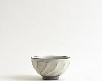 Shinogi Chawan S - Faceting Patterned Rice Bowl (S) ; Fumika Miyake (13003115-1)