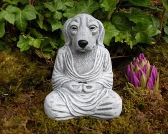 Buddha, Dog Buddha, Meditating Dog Statue, Yoga Dog Statue, Dog Buddha Statue, Zen Statue, Outdoor Zen Garden Decor