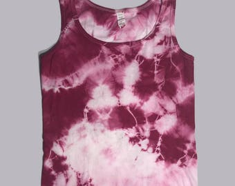 Women's Comfy and Flattering Plain Tye-Dyed Tank or T-Shirt