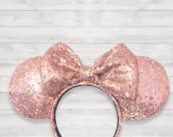 Rose Gold Inspired Minnie Mouse Ears