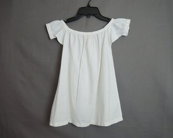 Victorian Antique Baby Slip Little Girl's White Cotton Vintage Slip, 22 inch chest, Children