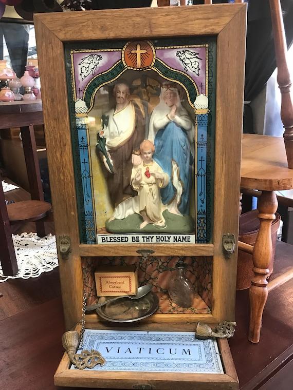Viaticum Catholic home extreme unction set