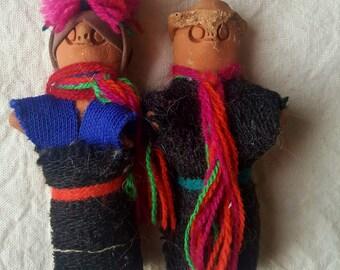 Paar poppen Chamula, Chiapas, Mexico