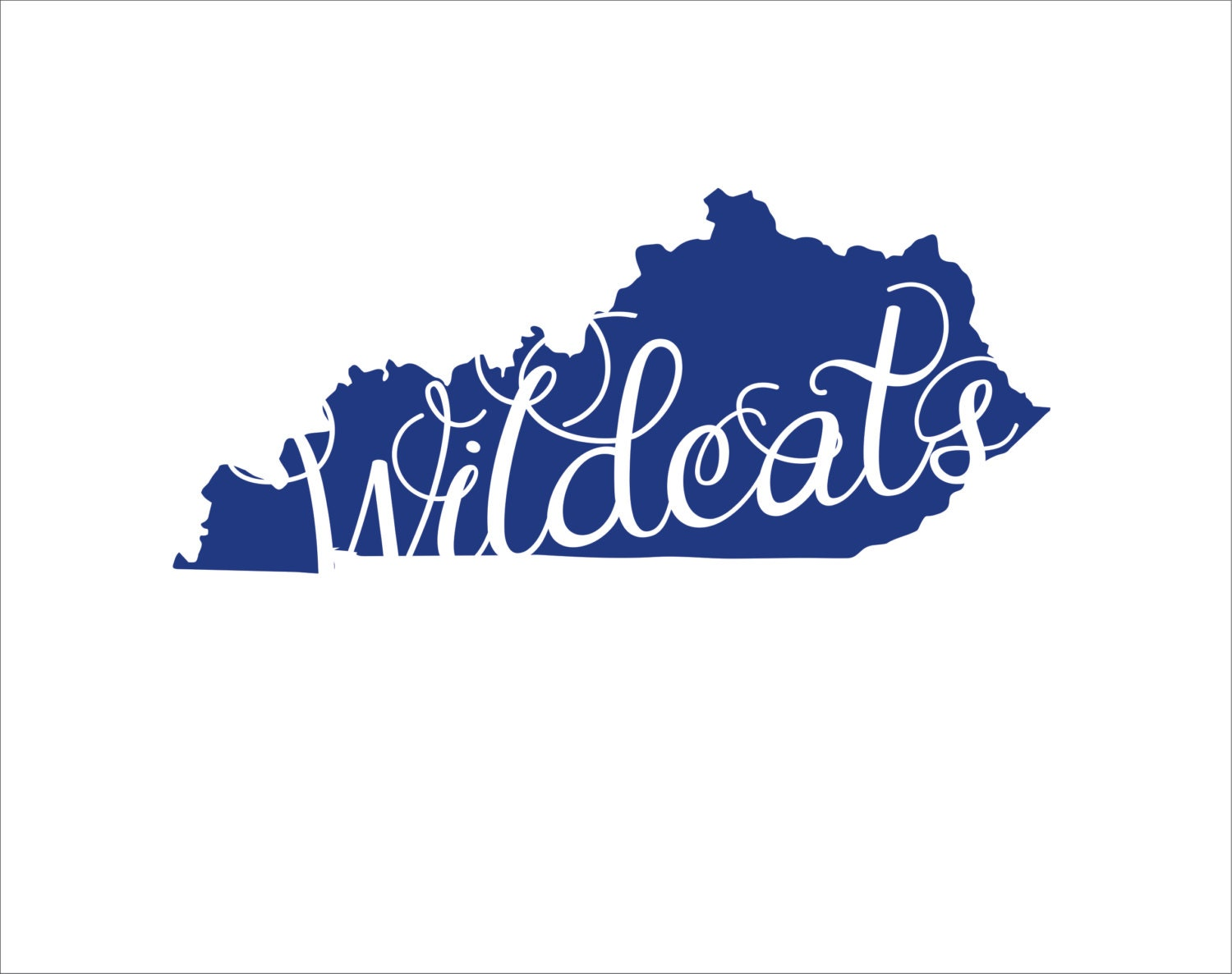 Wildcats KY state silhouette instant digital download cutting file ...