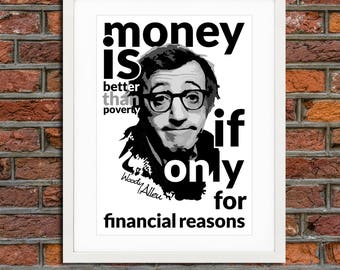 Quotation - poster - Woody Allen - citation