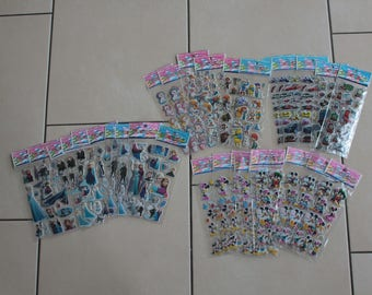 CLEARANCE - 30 X sheets of Stickers 3D - different patterns