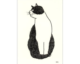 Original ACEO card - Black and white