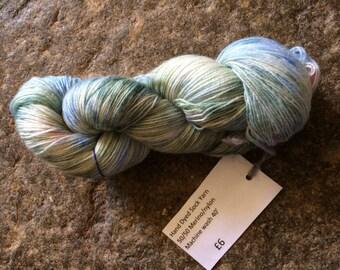 Hand dyed sock yarn 100g