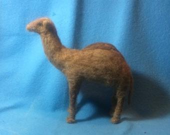 Needle felted wool/Alpaca/camel Fiber Camel
