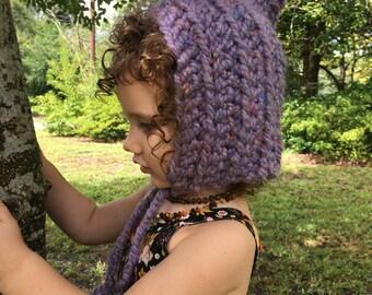 Pixie hat - crocheted hat - made to order - children's winter hat - winter hat - newborn hat - pointy hat - chrochet bonnet - winter hat