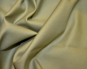 REMNANT Green Satin Fabric 57 inches x 4.375 yards