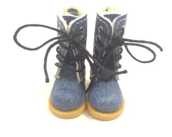 1/8 BJD Doll Shoes High Boots for Dolls,3.8CM Sneakers for Dolls Accessories,Causal Canvas Shoes for Blythe/Pullip/AZONE S