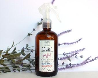 Room & Linen Spray - Essential Oil Spray - Non-toxic Air Freshener - Aromathearapy Spray - Tangerine Spray - Uplifting Spray - Pillow Spray