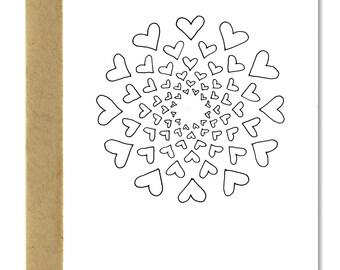 Heart Circle - A1 Card (Single or Set)