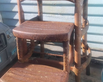 Way rad working antique vintage collapsible step stool