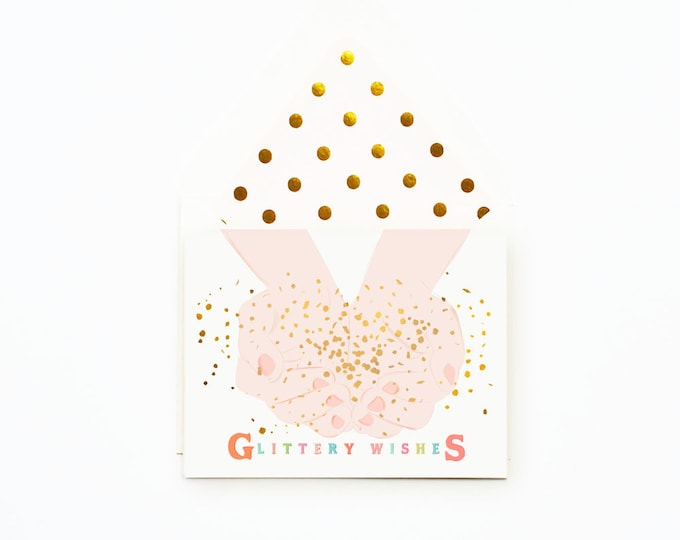 Glittery Wishes Card
