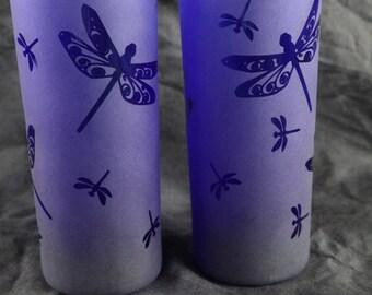 NEW ITEM Blue Dragonfly tall tumbler