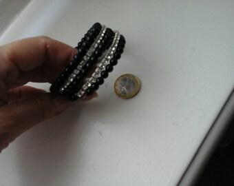 Vintage black bracelet and stars