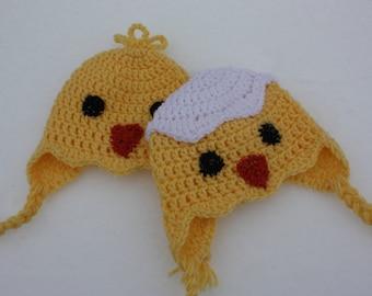 CROCHET PATTERN: Hatching Chick Hat